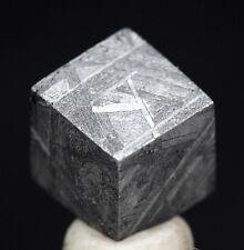 AMAZING Gibeon Iron Meteorite Cube ETCHED SLICE WIDMANSTATTEN Specimen Carving