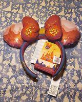 Disney Minnie Mouse Main Attraction Big Thunder Mountain Headband Ears In Hand