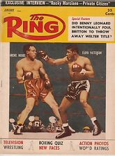 THE RING MAGAZINE ARCHIE MOORE-FLOYD PATTERSON BOXING HOFers COVER JANUARY 1957
