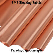 "EMF RFID RF Shielding Copper Fabric Roll - 43"" x 36"" (3 feet) of Material"