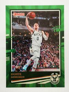 Panini Donruss 2020-21 N23 NBA Green laser #6 Donte DiVincenzo Milwaukee Bucks