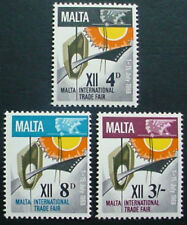 1968 MALTA: QE II: MALTA TRADE FAIR:  SET OF 3 MNH STAMPS