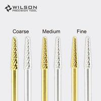 2pcs Small Cone - Gold/Silver - WILSON Carbide Nail Drill Bits US SELLER