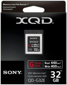 Genuine Sony G Series 32GB XQD Memory Card 440MB/s (UK Stock) BNIP original