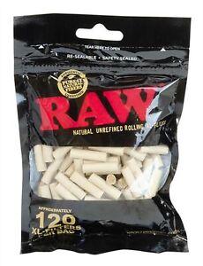 RAW Black Natural XL Drehfilter Eindrehfilter  ungebleicht 6mm 22mm Länge Tip