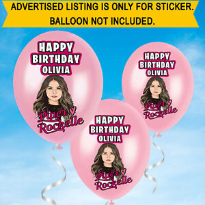 Personalised Birthday Name Piper Rockelle Youtuber Balloon Stickers