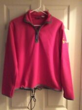 Winnie The Pooh Pink Fleece Pullover Jacket w/ 1/4 Zip Size Large