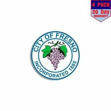 City Of Fresno Seal 4 Stickers 4x4 Inch Sticker Decal