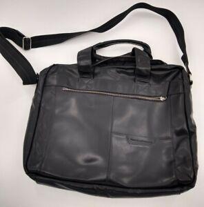 Perry Ellis Portfolio Genuine Leather Laptop/Messenger Bag