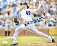 *RARE* Travis Wood Cubs Signed 8x10 Photo 2016 World Series Autograph -JSA COA