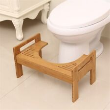 Wooden Potty Prevent Constipation Bathroom Toilet Aid Squatty Step Foot Stool