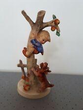 Goebel Hummel Culprits Figurine - No 56A Boy Up A Tree With A Dog Terrier -TMK 3