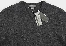Men's DANIEL CREMIEUX Heather Gray Grey V-Neck CASHMERE Sweater XXL 2XL NWT