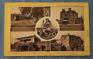 Original 1890s OLD WEST Print Santa Fe New Mexico & Mancos Colorado Pueblo Mummy