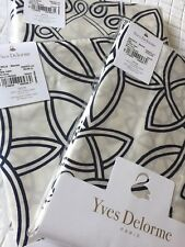 YVES DELORME ENTRELACS MARINE SATIN DUVET COVER SET SUPERKING