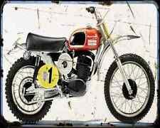 HUSQVARNA 400 CROSS A4 Imprimé Photo moto Vintage Aged