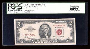 DBR 1963 $2 Legal STAR Fr. 1513* PCGS XF-40 PPQ Serial *00197883A