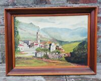 Ancienne peinture sur toile avec cadre signée Goudan Arthur début XXème siècle