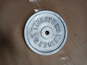 Vintage Rare Weider Barbell Usa 25 Lb Small Hole