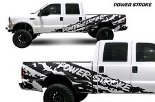 Vinyl Decal Powerstroke Shred Wrap for Ford F-250/F-350 Truck 99-06 Matte Black
