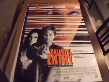 """Original Movie Poster UNLAWFUL ENTRY  27""""x41"""""""