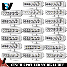 20pcs 6inch 18W Spot LED Work Light Bar Offroad 4x4 Driving Lamp SUV 12V 24V