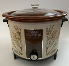 Vintage Hamilton Beach Model 417-1 Crock Watcher 6 Quart Slow Cooker Crock Pot