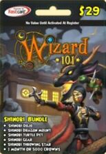 new Wizard 101 SHINOBI BUNDLE Game Card Crowns Dragon Mount Turtle Pet +