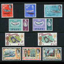 FIJI 1964-66 4 Sets. Aircraft, Ships, Football ICY. Lightly Hinged Mint. (CA598)