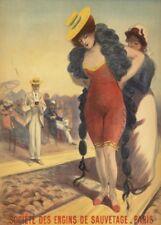 Société des Engins de Sauvetage-Paris, France, 1890, JULES CHERET Poster