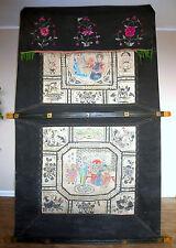 XXL Großer Vorhang Hochzeitsvorhang ? China um 1900 Handbemalt Hochzeit B-11417