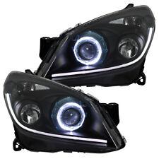 Scheinwerfer LED Angel Eyes Opel Astra H Schwarz TFL Tagfahrlicht Optik