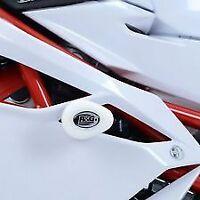 R&G Aero no-cut Frame Sliders, WHITE,MV Agusta F4 1000R '10- / F4RR / F4 RC '15-