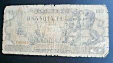 VERY RARE  BUT VERY WORN ROMANIA 100 LEI BANKNOTE,1947,PICK-67