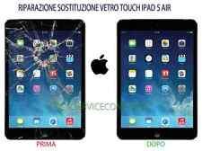 Sostituzione vetro rotto apple iPad 5 Air riparazione touch schermo