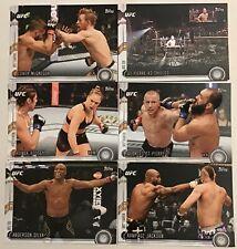 2015 TOPPS UFC CHRONICLES 275 CARD BASE SET—McGREGOR..SILVA..ROUSEY...