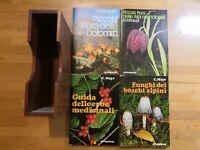 Cofanetto 4 Libri Erbe medicinali,Funghi dei boschi Alpini,Flora delle Alpi 1977