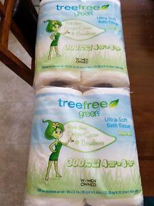 2 Tree Free Green2 Ultra Soft Bath Tissue 8 Rolls Brand New Sealed