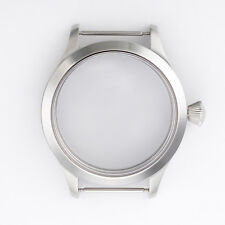 45mm Sapphire Glass Steel Case Fit ETA UNITAS 6497/6498 Men Wristwatch Movements