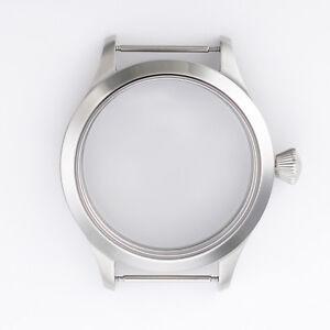 45mm Sapphire Glass Steel Case Fit ETA UNITAS 6497/6498 Men Wristwatch Movements