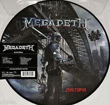 MEGADETH - DYSTOPIA, ORG 2016 EU PICTURE DISC vinyl LP + DOWNLOAD, NEW!