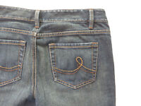 Womens Loft Original Boot Denim Blue Jeans Size 6 33x33