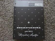 New listing Marantz Pm225 Stereophonic Amplifier Original Service Repair Manual