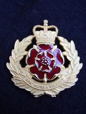 British Army Duke Of Lancashire Regiment Gilt/Enamel Military Cap/Beret Badge