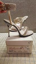 "5"" Rhinestone High Heel Sandal Crossdress Entertainer Burlesque Belly Dance Sz10"