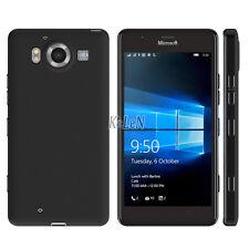 Black Silicone Case Rubber Gel Matte Surface TPU Cover for Microsoft Lumia 950