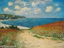 Claude Monet Path Through the Corn at Pourville Handmade Oil Painting repro