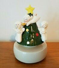 Vintage 1979 Otagiri Music Box Silent Night Ceramic Angels Christmas Tree Works