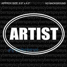 Artist Art Design Car Vinyl Sticker Decals