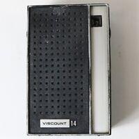 1960s Viscount AM 14 Transistor Radio Model 1418, 9 Volt - Works